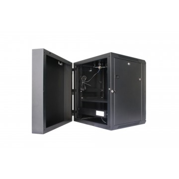 Tough CX Series 15U Double Section Wall Mounted Cabinet with Metal Door