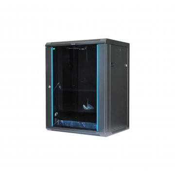 Tough CX Series 15U Wall Mount Cabinet with Glass Door
