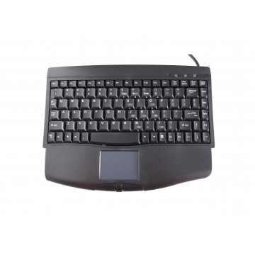 Mini Keyboard with Touch Pad - PS/2 Cable (Black)