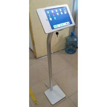 Tough Adjustable iPad Floor Stand for iPad 2/3/4, with Cable Lock