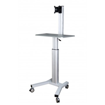 Monitor Mobile Cart -  Silver